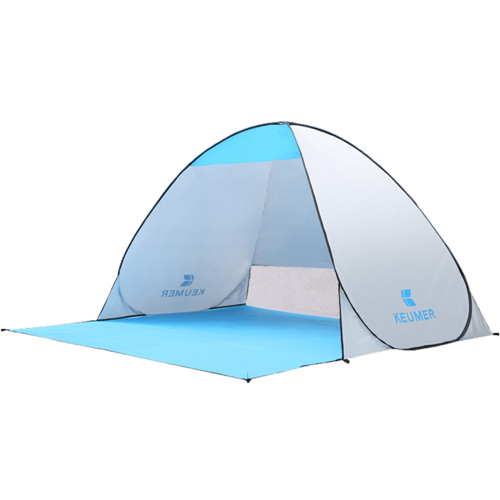 Image 2 - (120+60)*150*100cm Outdoor Automatic Instant Pop up Portable Beach Tent Anti UV Shelter Camping Fishing Hiking Picnic-in Tents from Sports & Entertainment
