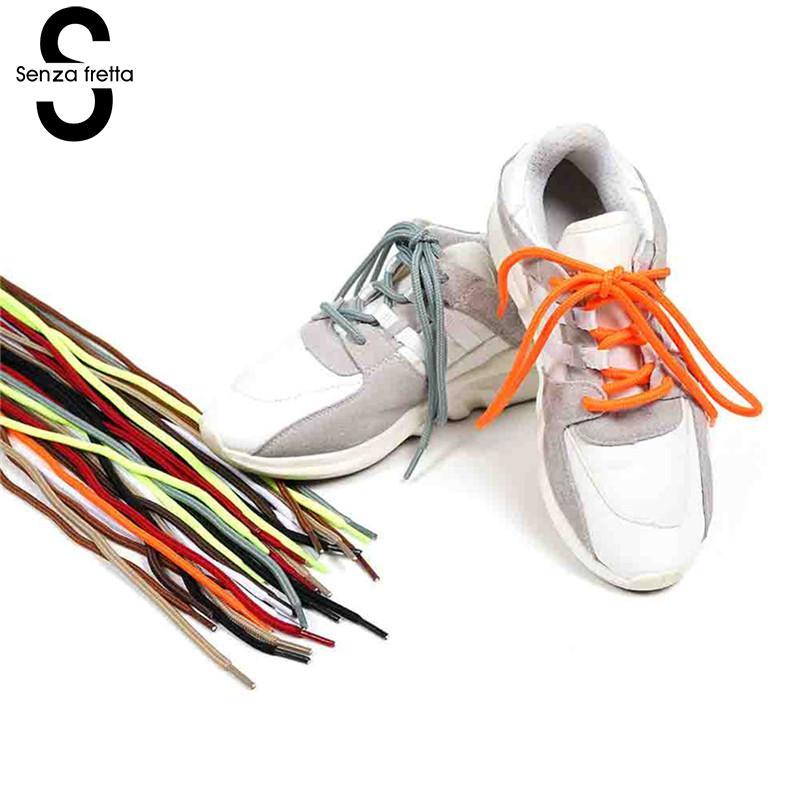 Senza Fretta New Outdoor Sport Shoelaces Casual Multicolor Round Shoe Laces Sneakers Shoelaces Boot Shoe Laces Strings LDD0624 цена