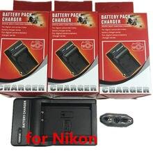 Chargeur de batterie au Lithium pour appareil photo Nikon, compatible avec les modèles EL8, ENEL8, Coolpix S3, S5, S6, S7, S7c, EN-EL8