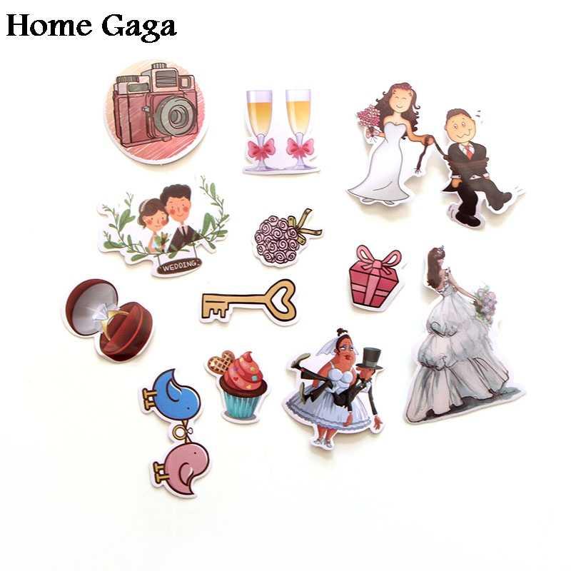 Homegaga 68 Pcs Tema Pernikahan 90 S Dinding Dekorasi Rumah Cetak Notebook Tas Laptop Sepeda Scrapbooking Album Stiker D1340