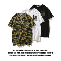 a bathing ape t shirt short sleeve shark summer cotton bathing ape