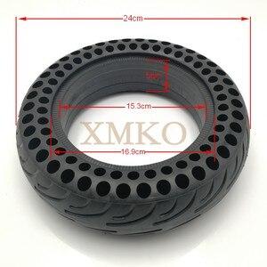 Image 2 - Обновленные шины для скутера NINEBOT MiniPRO с твердыми отверстиями, двойной амортизатор, непневматические мини шины Xiaomi, демпфирующие резиновые шины