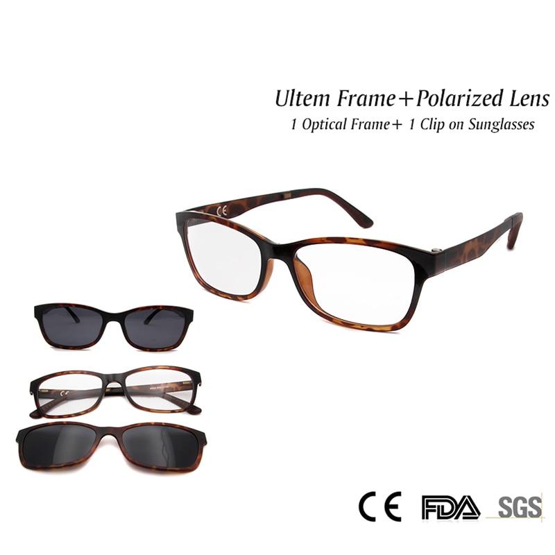 166dc9d7c38 2017 New Fashion Unisex Eyeglasses Ultem Light Flexible Frame With Polarized  Magnets Clip On Sunglasses Myopia Glasses Oculos