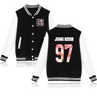 Kpop BTS Album Sweat Bangtan Boys Baseball Long Sleeve Jacket High Quality Hoody K Pop Autumn