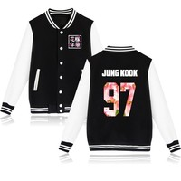 Kpop BTS Bangtan Boys Baseball Uniform Long Sleeve Jacket High Quality Hoody K Pop Autumn Winter