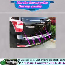 For Su6aru Forester 2013 2014 2015 2016 Car body cover protection Bumper stainless steel trim rear back tail bottom Around 1pcs