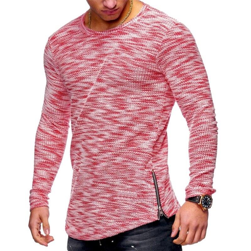 46fd529db78 Vertvie Men Running T shirts Slim Summer Top Long Sleeve Zipper T shirt  Homme Cool Streetwear Tshirt Male Tops Tees 2019 New-in Running T-Shirts  from Sports ...