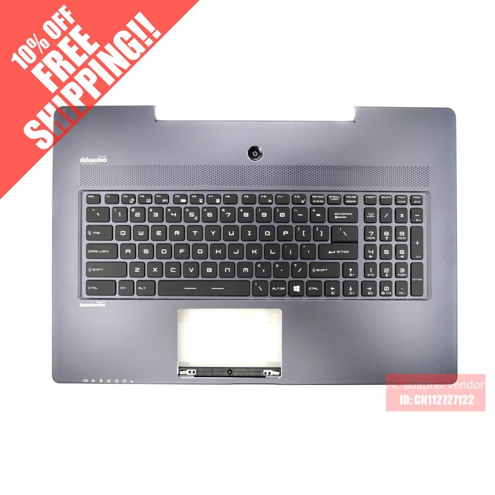 цена на brand new FOR MSI GS70 GS60 keyboard backlit C shell palmrest English GT72 GT62 GS62 GS72 307772C417-2B621 V143422BK1