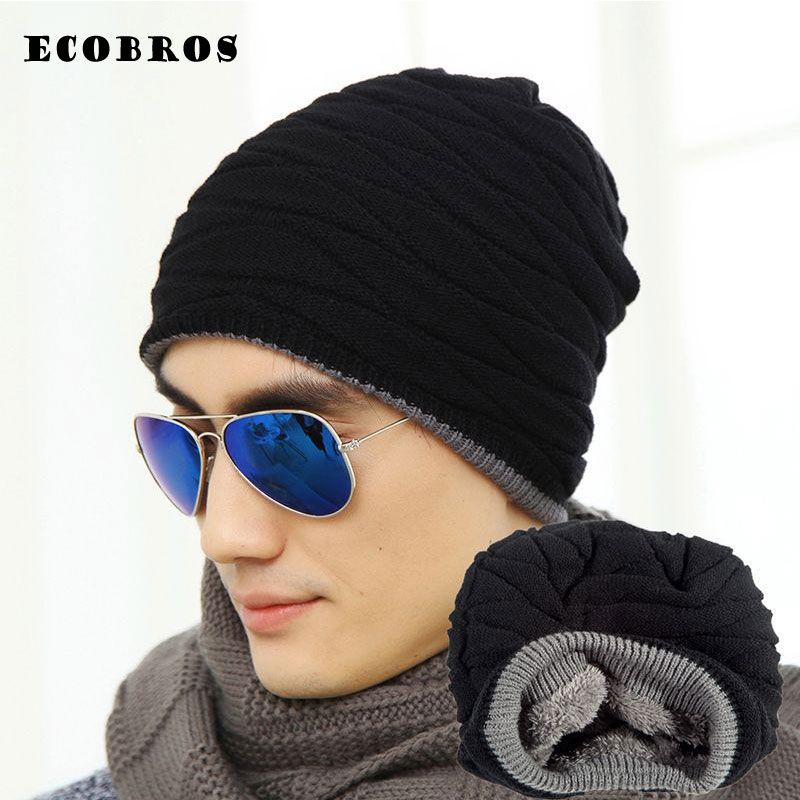 2017 Winter man/woman warm hats thicken add velvet Knit Hat Beanies Toucas Bonnet Hats Crochet Ski hip hop Cap Skullies Gorros winter casual cotton knit hats for women men baggy beanie hat crochet slouchy oversized ski cap warm skullies toucas gorros 448e