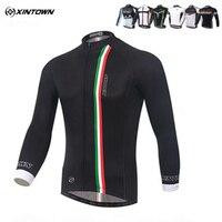 XINTOWN Équipe Pro Hommes de Cyclisme Jersey Vestes Sport Vêtements Ropa Ciclismo Vélo À Manches Longues Vélo Jersey Top S-4XL