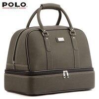 Yeni Marka POLO Çift Giyim Ayakkabı Paket Seyahat Çantası Bolsas Zapatos Golf PU Su Geçirmez Golf Ayakkabı Çanta Kapak Uomini 2017