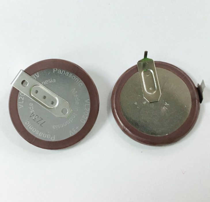 Rechargeable Button Lithium Battery ML2020 VL2020 Battery For Panasonic BMW E46 E60 E90 Accu FOB F1 Fobs Key 90 Degree Soldering