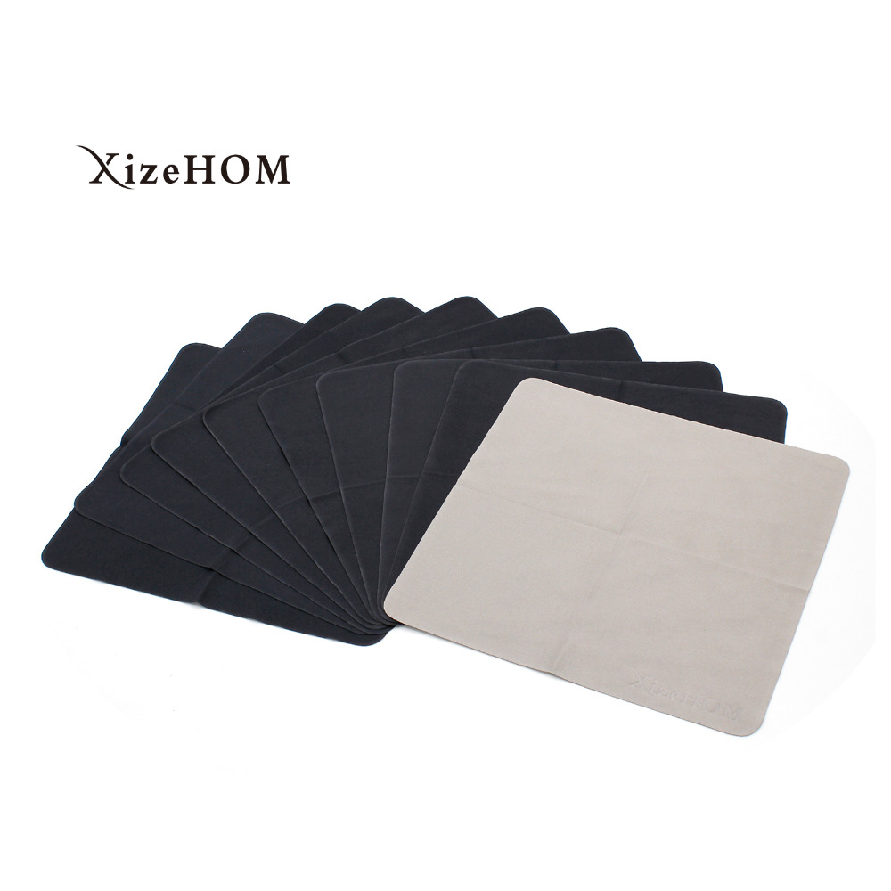 XizeHOM 10 pcs/lots High quality  Glasses Cleaner 20*20cm Microfiber Glasses Cleaning Cloth For Lens Phone Screen Cleaning Wipes Cleaning Cloths    - title=
