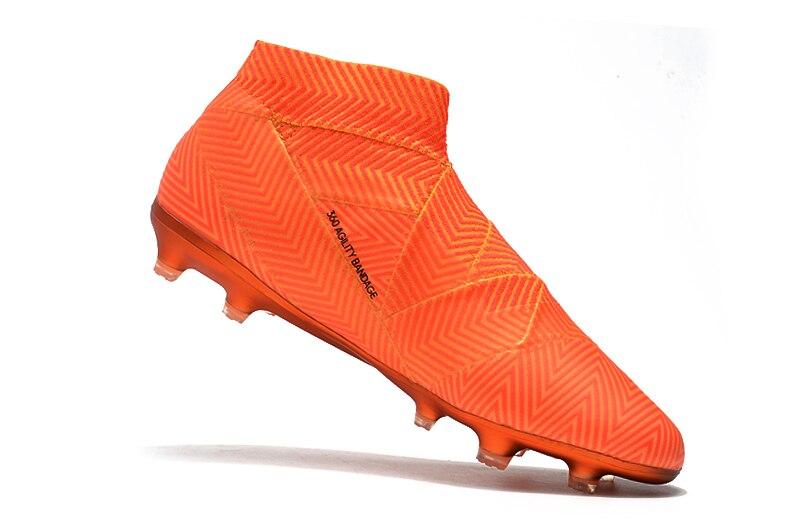 Здесь магазин новейший ZUSA NEMEZIZ 18 + FG футбольные бутсы мужские уличные дешевые футбольные бутсы обувь сапоги