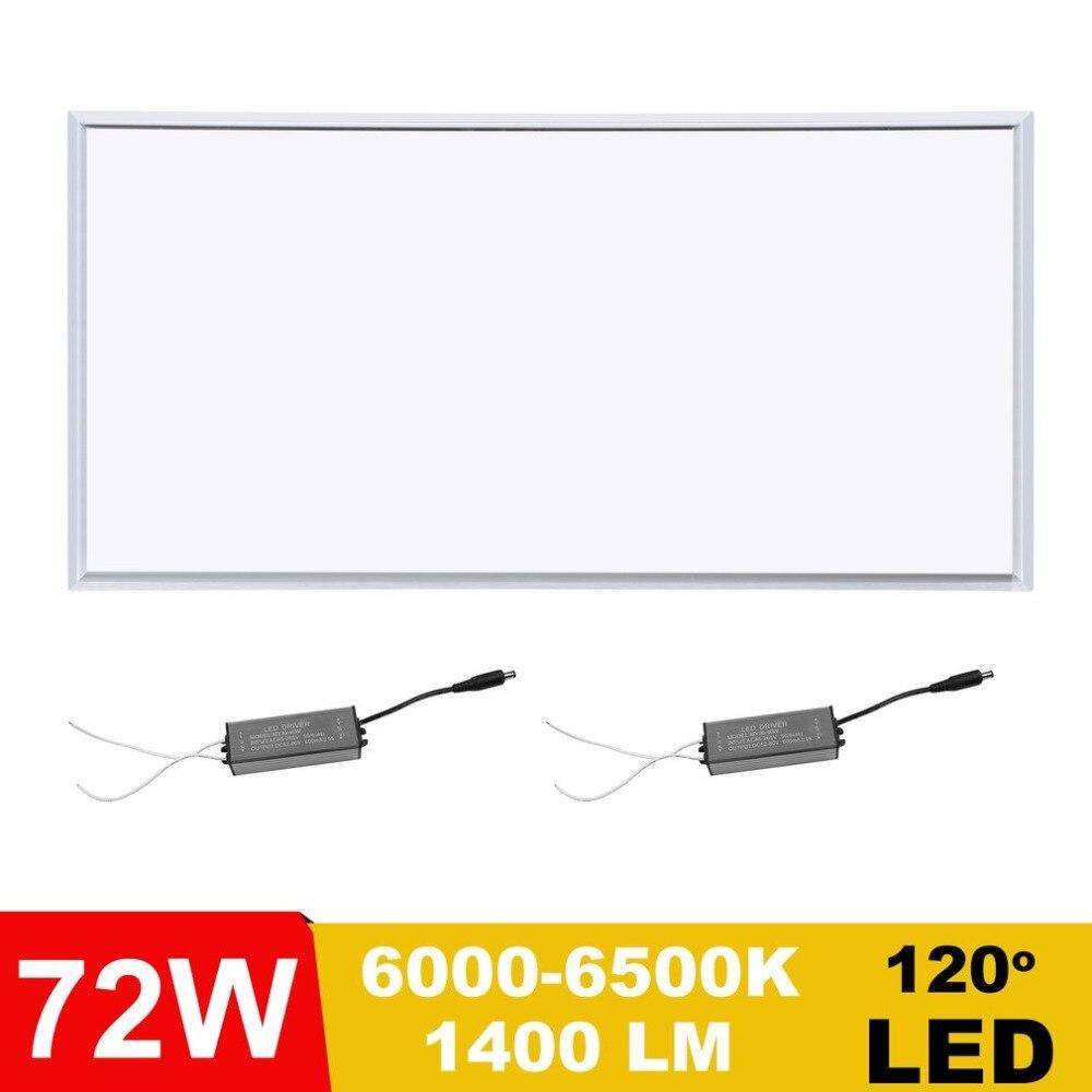 Super Bright 120x60cm 72W Aluminum LED Panel Lamp Ceiling Light Pendant Wall Lamp Downlight Silver Side Pure white/Warm white светоотражатель westcott silver white panel 36cm 1131