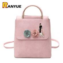 Винтаж Цветочный рюкзак Для женщин Школьные сумки для подростков Обувь для девочек женщина рюкзак из искусственной кожи Mochila Escolar feminina плеча Bolsa