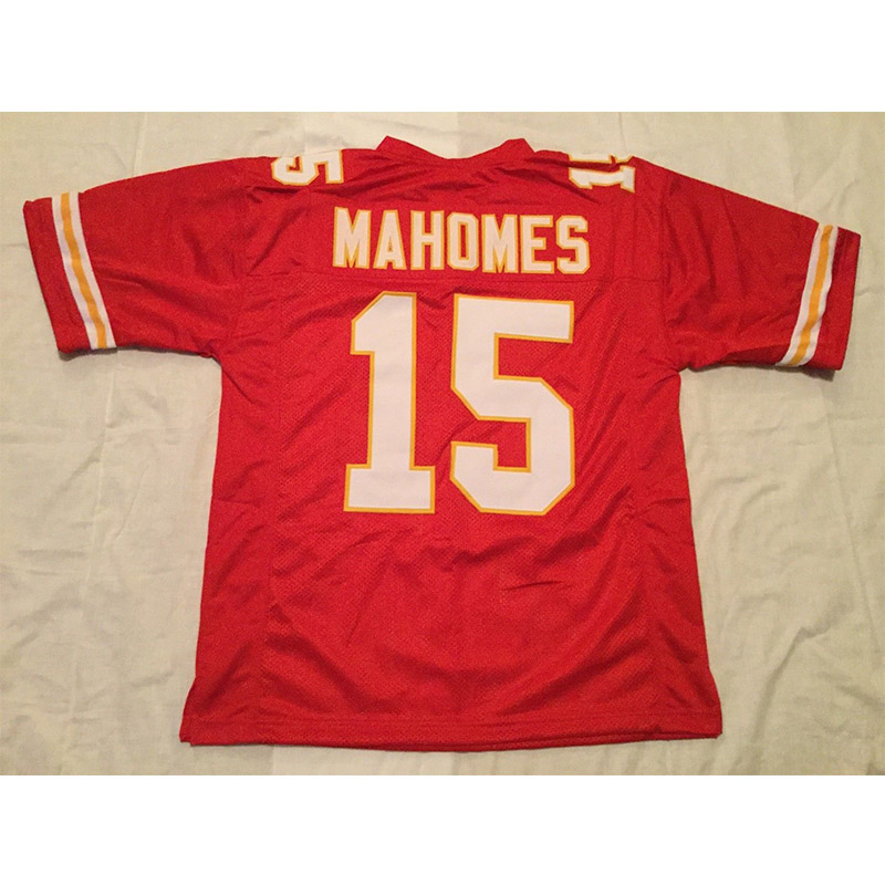 Mens Patrick Mahomes Stitched Name&Number Throwback Football Jerseys [UNSIGNED NO LOGOS OR EMBLEMS]