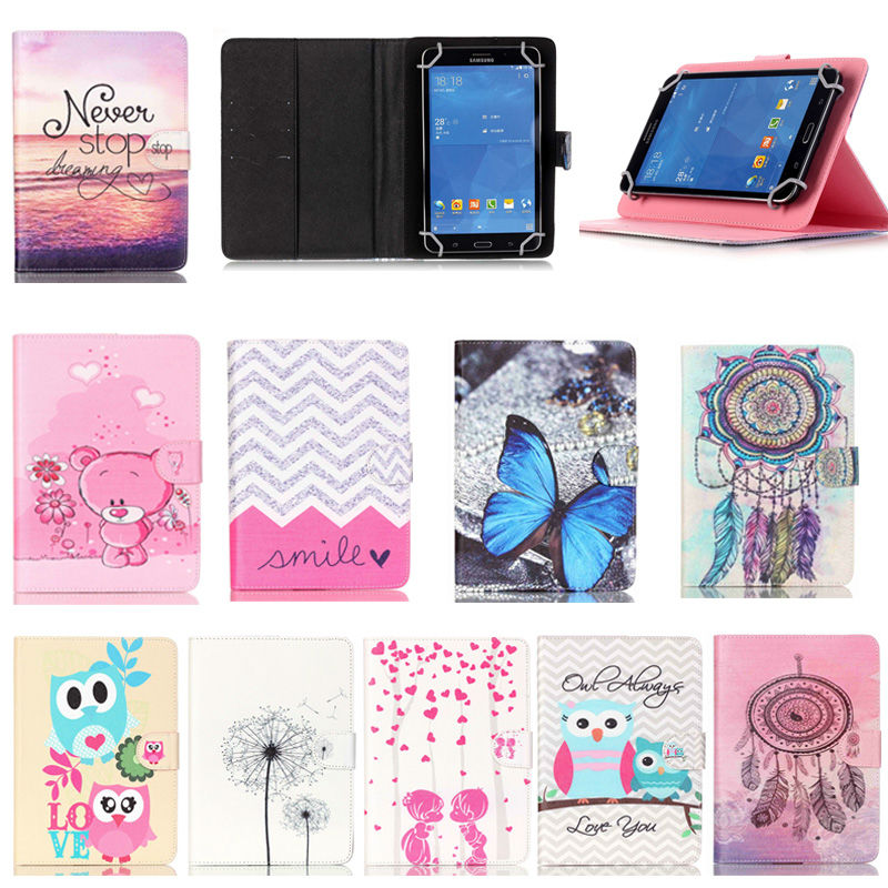 Universal 7 Inch Tablet bags For Kids PU Leather Case Stand Cover For Prestigio MultiPad Journey