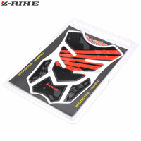 Motorcycle Decal Gas Oil Fuel Tank Pad Protector Skull Racing Car Sticker For Honda VF750S SABRE