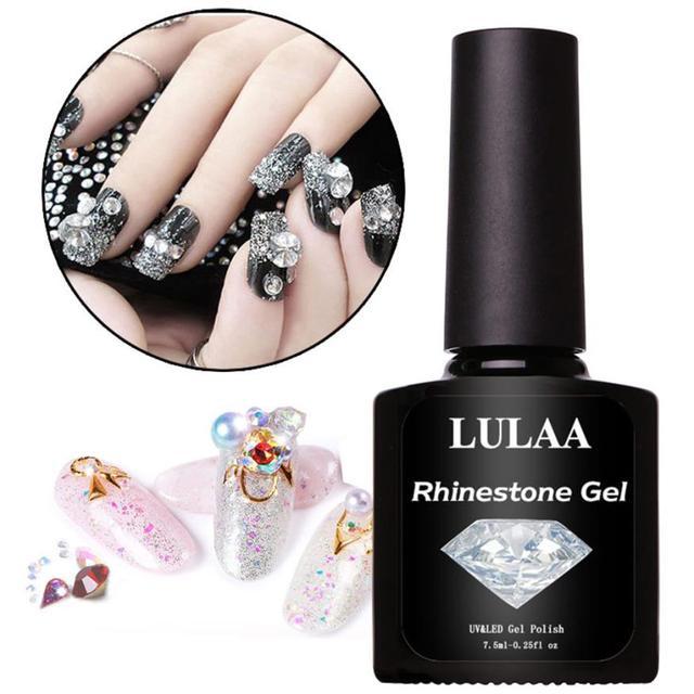 Lulaa 7 5ml Nail Glue For Rhinestones Diy Art Polish Rhinestone Adhesives Super Sticky