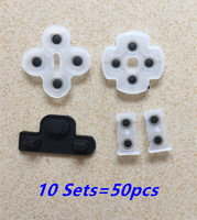 10sets Soft Rubber Silicone Conductive Adhesive Button Pad keypads for Sony PS3 PlayStation 3 Controller Gamepad Repair Part