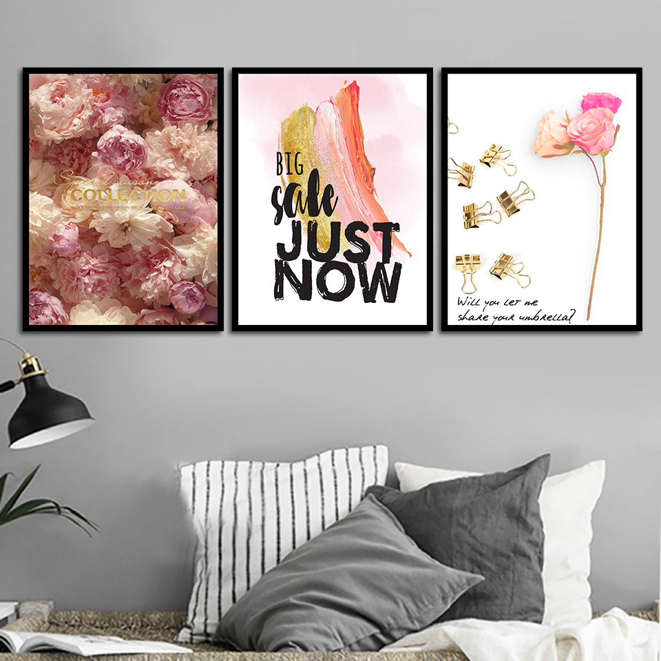 PINK LADY PINK PRINT FOR HOME DECOR A4
