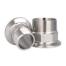 SS304 Stainless 3/4 inch BSPT Male Threaded X 11/2 inch Tri Clamp Sanitary Adapter Food Grade(China)