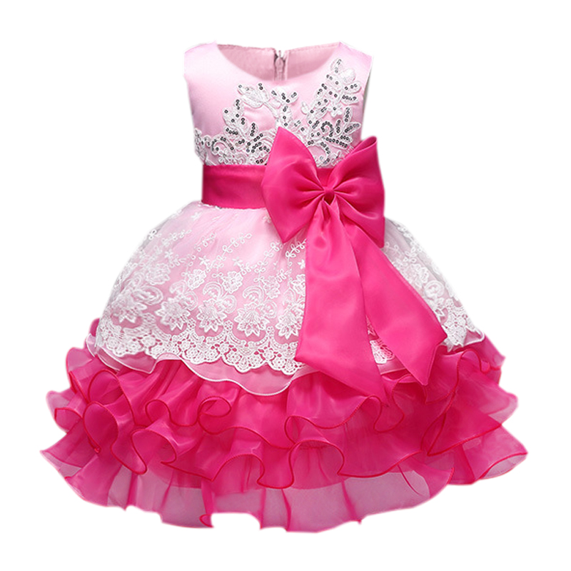 Baby Girl Formal Wear Dress Children Gilrs Prom Dresses For Kids Clothes Flower Princess Girl ...