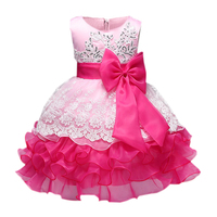 Baby Girl Formal Wear Dress Children Gilrs Prom Dresses For Kids Clothes Flower Princess Girl Party