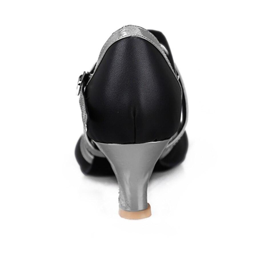 515 Heel 5cm Qara PU Tango Rəqs Ayaqqabıları Zapatos Salsa Mujer - İdman ayaqqabıları - Fotoqrafiya 3