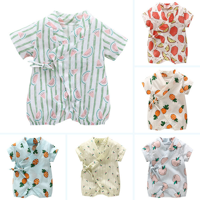 ac5866cd8 2018 New Floral Japanese Kids clothes Kimono Summer Baby clothing Girls  Boys Rompers Cotton Casual Tracksuit Infants Jumpsuits