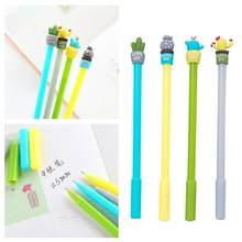 0.5mm Cactus Gel Pen Pot Ballpoint Pens Student Ball Point Pen School Office Supplies Black Ink Students Stationery Wholesale(China)