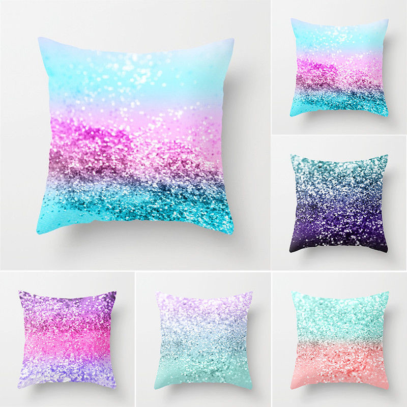Sequins Queen Style Pillow Case Sofa Bed Festival Pillow Case Decor Cushion 9