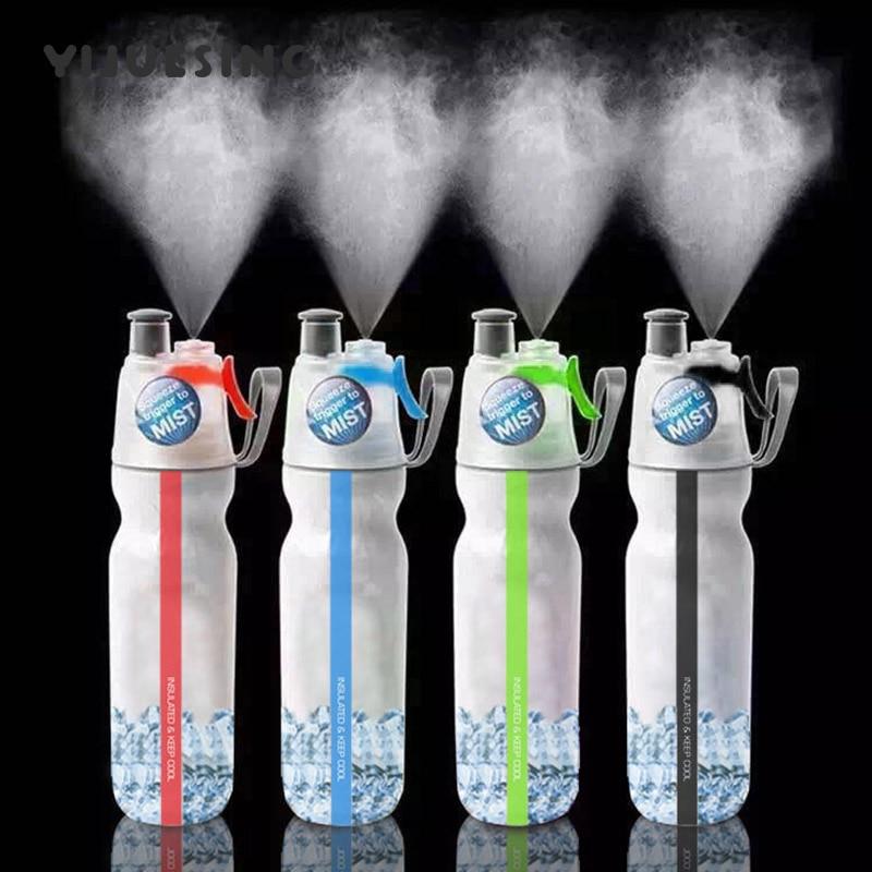 Isolierte Nebel Spray Wasser Flasche BPA FREI Doppel Wand Eis Kalt Trinken Squeeze Flasche 500 ml/17,1 unze Outdoor sport