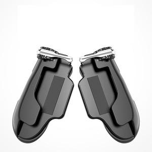 Image 5 - PUBG المحمول الزناد/تحكم النار زر تهدف مفتاح المحمول ألعاب قبضة مقبض L1R1 مطلق النار المقود لباد اللوحي و الهاتف 2in1