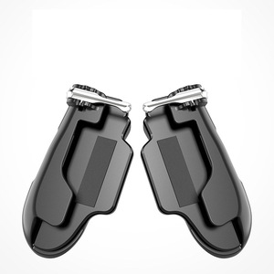 Image 5 - Pubg 모바일 트리거/컨트롤러 화재 버튼 조준 키 모바일 게임 그립 핸들 l1r1 슈터 조이스틱 ipad 태블릿 및 전화 2in1