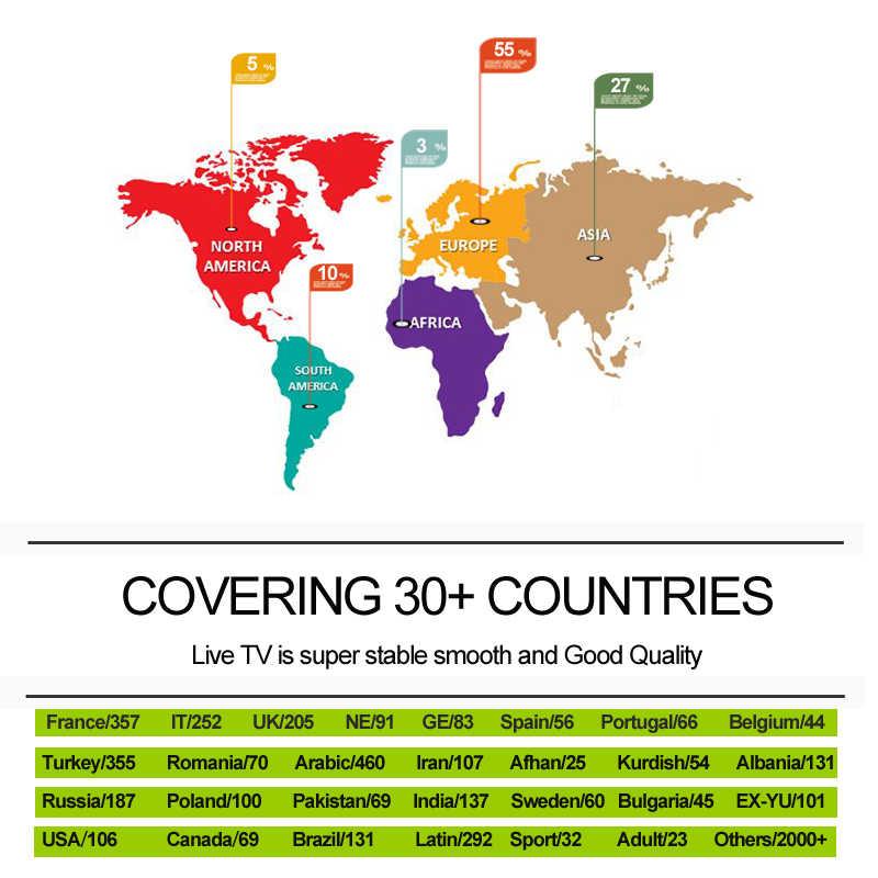 MAG 256 IPTV Adult Sport Europe Brazil Latin America USA Canada Kuidrish  Arabic Asian Channels mag256 SET TOP BOX PK Htv 5 X96