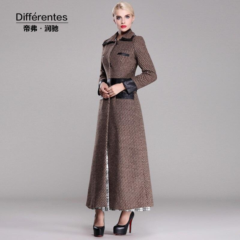 2015 brand coat female overcoat winter long coats women floor ...