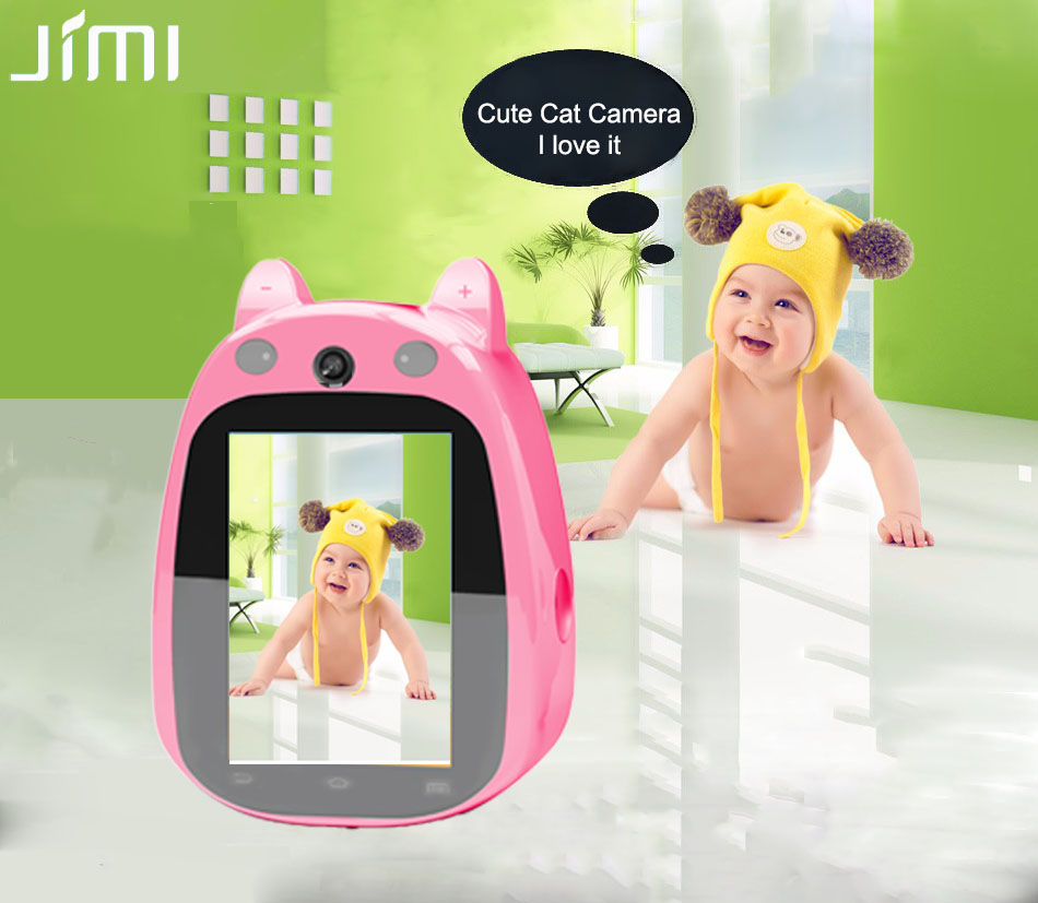 ФОТО Jimi JH168(Pink) Cute Baby Monitor Hot IP Camera Wi-fi 3.5 Inch Screen Dual Way Audio P2P Remote Surveillance Wifi Indoor Camera