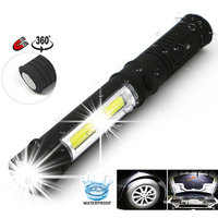 Work Light Flashlight Travel Torch Camping Lights Hiking Warning Lamp COB LED Outdoor Portable ABS Plastic