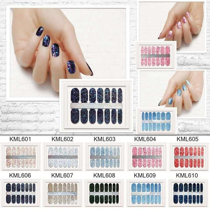 LADY KINDOM Beauty DIY Nail Patch Self Adhesive Nail Wraps Decals Gradient Color Nail Polish Stickers Waterproof Nail Strips