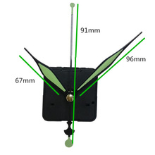1 Набор 28 мм вал светящийся флуоресцентный зеленый ручной кварцевый механизм часов DIY кварцевые настенные часы замена запасных частей комплект