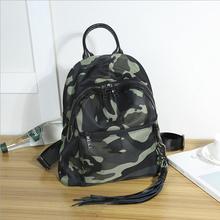 Гуанчжоу высокого качества холст с кожаной водонепроницаемый функция рюкзак с кисточкой уха отверстие военный рюкзак для женщин людей