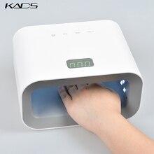 KADS светодиодная УФ-лампа для ногтей 90 Вт Сушилка для ногтей красный светильник для ухода за кожей Отбеливающий маникюрный светильник для ногтей отверждающий Гель-лак для ногтей Авто Чувствительная лампа