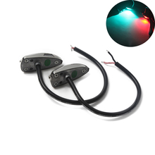 1Pair Red Green Stainless Steel Port Starboard Light LED Navigation for 12V Marine Boat Yacht