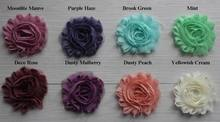 "Free USA ePacket/CPAP 30y 67 colors 2.5"" chic shabby frayed chiffon rose flower trim for girl hair accessories"