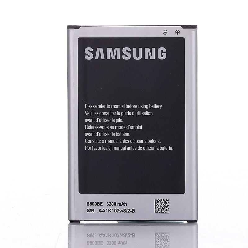 SAMSUNG 100% genuino Original batería recargable B800BU B800BC para SAMSUNG GALAXY Note3 N9006 N9005 N900 N9009 N9008S 3200 Mah