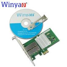 Winyao wyi350f2sfp pci-express x1 de doble puerto 1000 mbps gigabit ethernet lan tarjeta de red del servidor de fibra para intel i350-f2 2 puerto nic