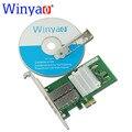Winyao wyi350f2sfp pci-express x1 dual port 1000 mbps gigabit ethernet lan placa de rede do servidor de fibra para intel i350-f2 2 port nic