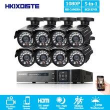 HD 8CH CCTV Системы 1080 P HDMI видеорегистратор AHD 1080 P видеонаблюдения Камера 8 шт. 2.0MP ИК Открытый Водонепроницаемый камера комплект видеонаблюдения